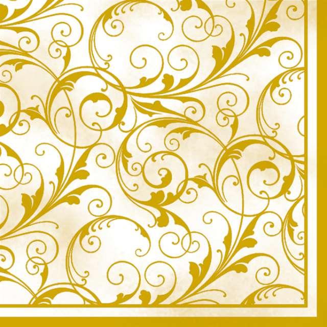 "Serwetki 33 cm, ""Gold Art"", kremowe, 20 szt"