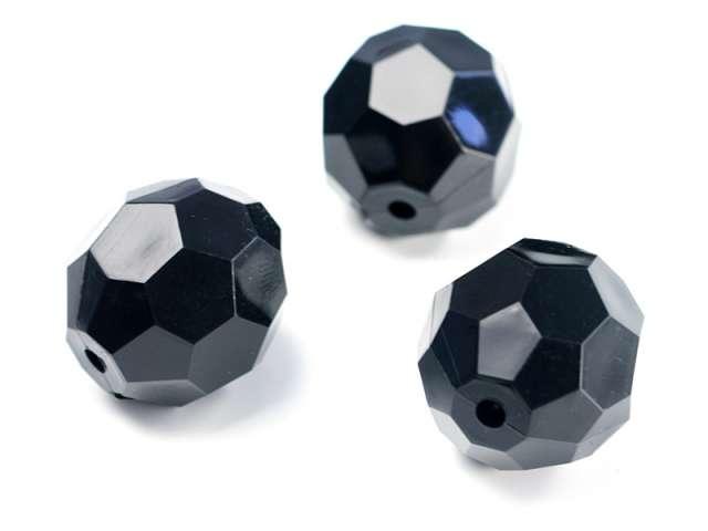 Kryształowe koraliki, czarny, 30mm, 1op.