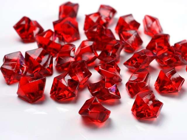 """Konfetti """"Kryształowy lód"""", czerwone wino, 25 mm, 50 szt"""