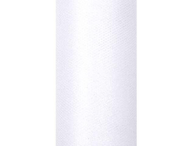 Tiul z brokatem biały 15 cm x 9 m