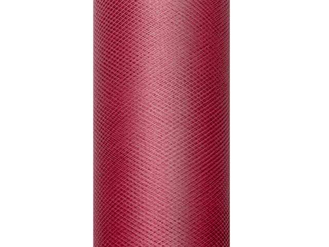 Tiul gładki, bordowy, 0,15 x 9 m