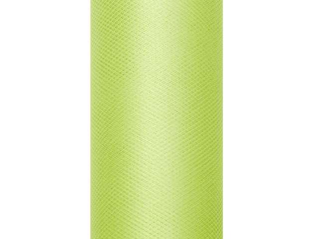 Tiul gładki, zielony jasny, 0,15 x 9 m