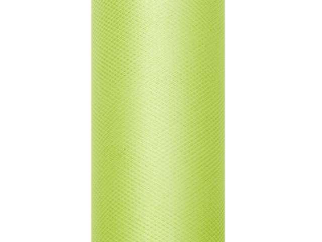 Tiul gładki, zielony jasny, 0,30 x 9 m