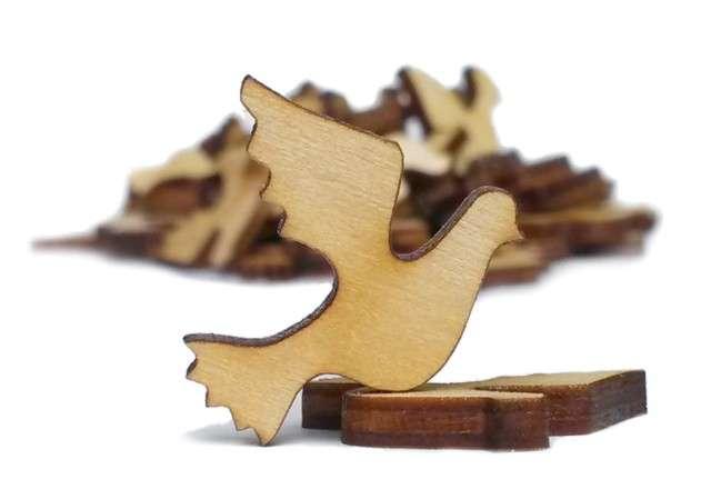 """Scrapki drewniane """"Komunia Gołąbki"""", 20 mm, 10 szt"""