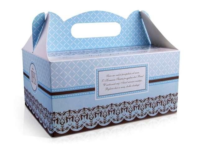 """Pudełko na ciasto """"Komunia classic niebieskie"""", 10 szt"""