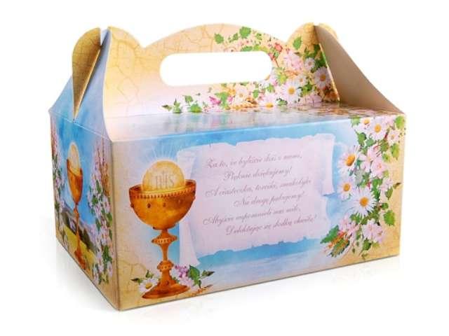 """Pudełko na ciasto """"Komunia IHS"""", 10 szt"""
