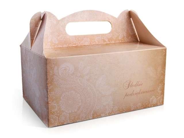 """Pudełko na ciasto """"Wesele Słodkie Podziękowanie"""", 10 szt"""
