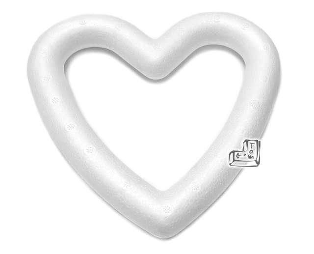 Styropian serce obrys 150 mm