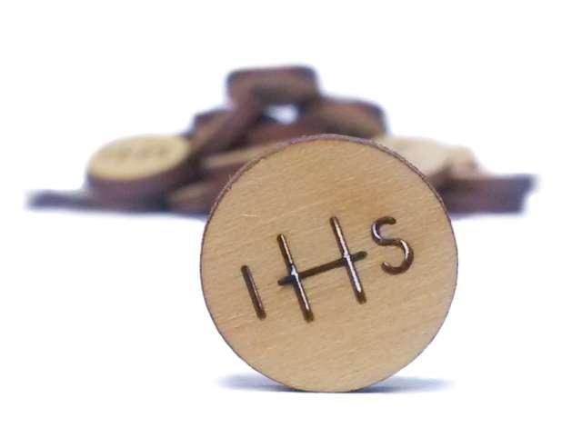 Scrapki drewniane Hostia IHS 10szt