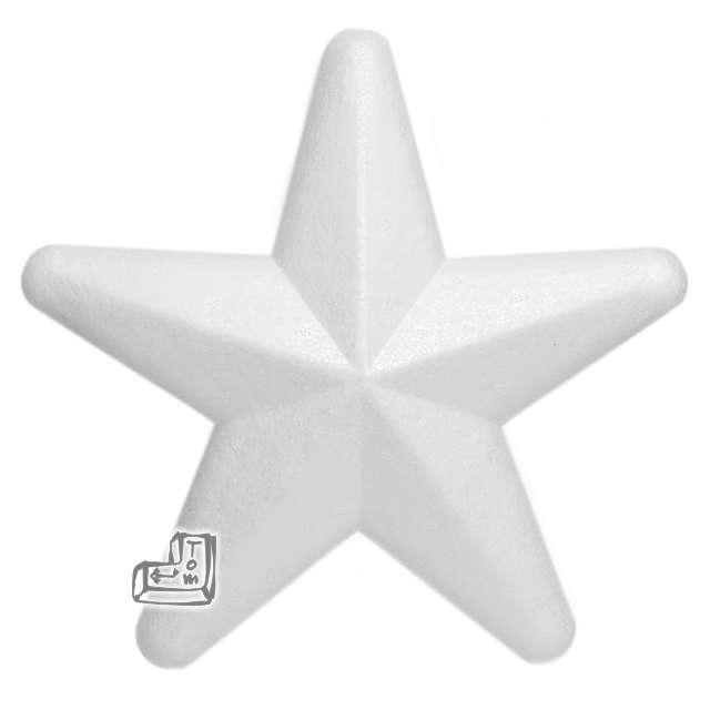 """Styropian """"Gwiazdka"""", 200 mm (m), UNISAN, 1 szt"""