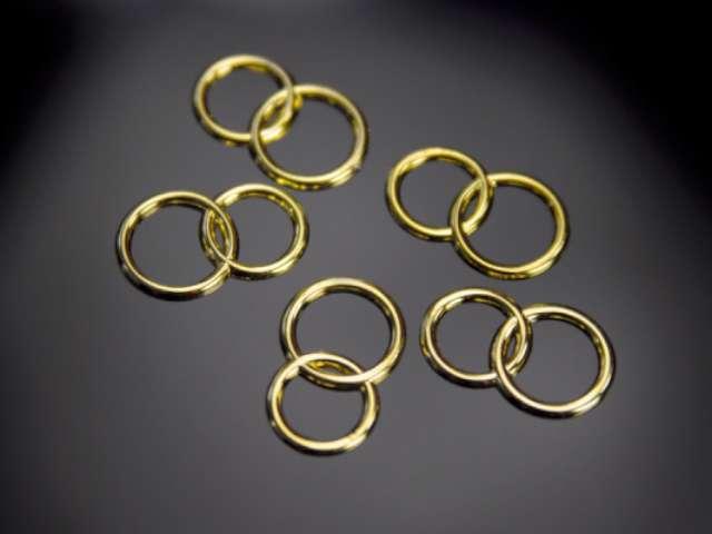 Aplikacje Obrączki, złoty, 15mm, 1op.
