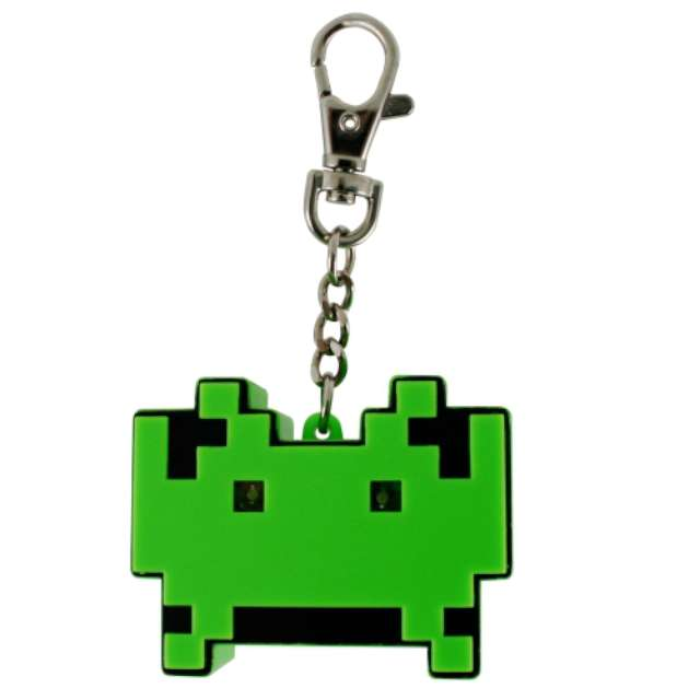 "Brelok do kluczy ""Space Invaders LED"", zielony"