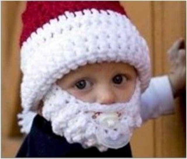 Czapka z brodą dla dzieci Santa Claus