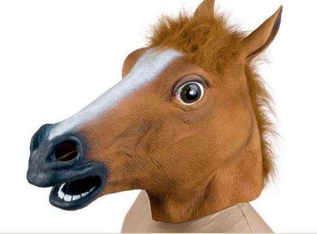 """Maska """"Koń"""", lateksowa"""