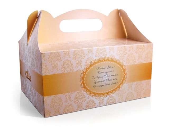 """Pudełko na ciasto """"Wesele Damask Gold"""", 1 szt"""