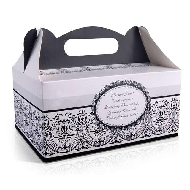 """Pudełko na ciasto """"Wesele Ornament czarno-białe"""", 10 szt"""