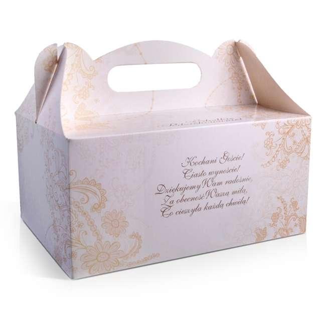 """Pudełko na ciasto """"Wesele Mozaika Wierszyk"""", 10 szt"""