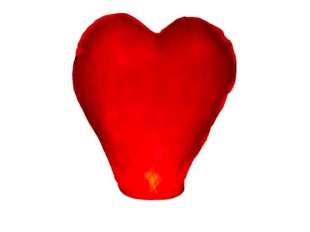 """Lampion latający """"Serce L"""", czerwony, 37 x 93 x 95 cm"""