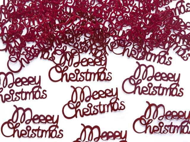 """Konfetti """"Merry Christmas"""", 4,2 x 2,2 cm, 3 g."""