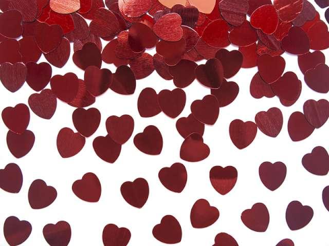 Konfetti czerwone serca, 10 mm, 30 g, 1 op.