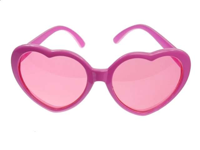 "Okulary party ""Serduszka"", różowe"