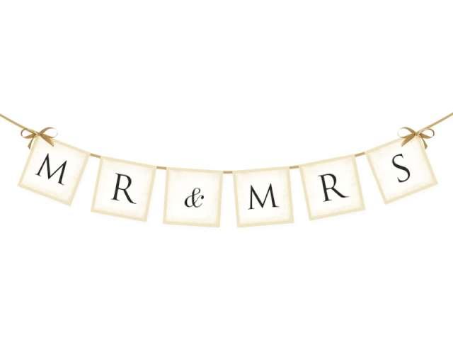 """Baner """"MR & MRS"""", 77 cm"""