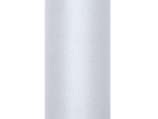 Tiul gładki, szary jasny, 0,15 x 9 m