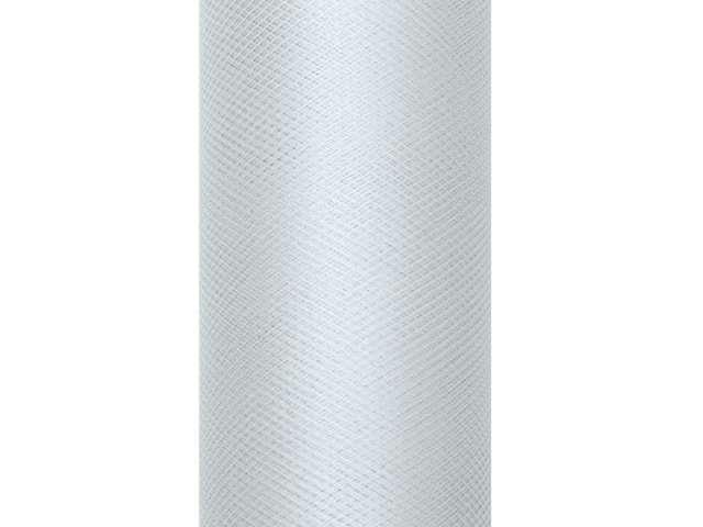 Tiul gładki, szary, 0,15 x 9 m