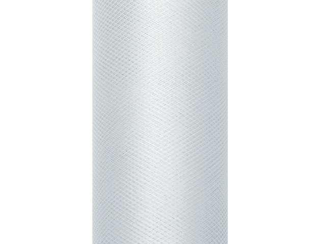 Tiul gładki, szary, 0,30 x 9 m