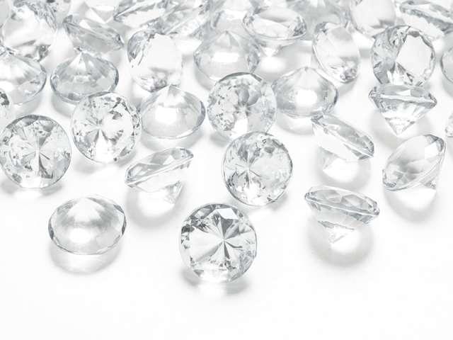 Diamentowe konfetti, bezbarwny, 20mm, 1op.