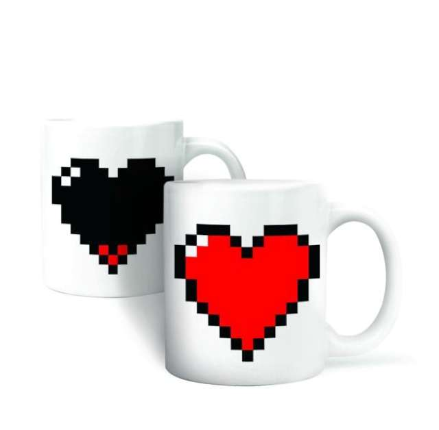Kubek pikselowe serce