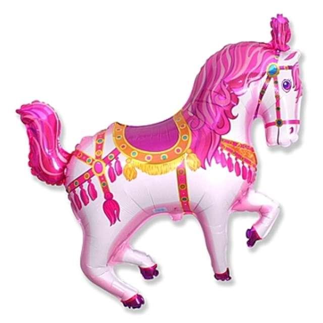 """Balon foliowy """"Koń cyrkowy"""", różowy, FLEXMETAL, 15"""" SHP"""