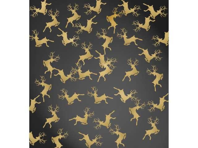 Konfetti Renifery, złoty, 2,3 x 3,6cm, 1op.