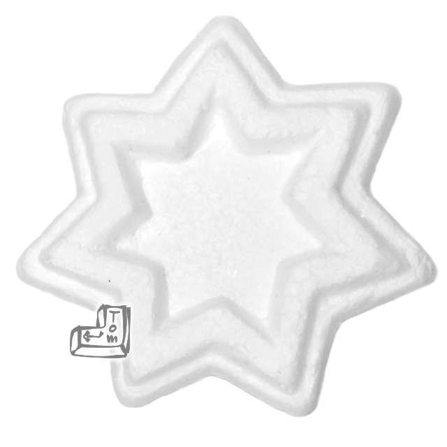 """Styropian """"Gwiazdka Deco"""", 65 mm (t), UNISAN, 5 szt"""