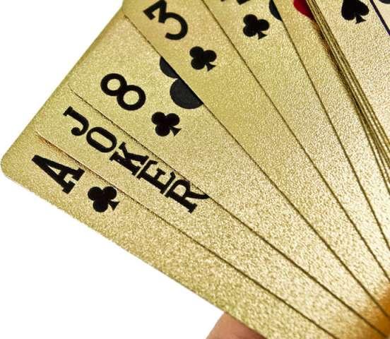Złote karty do gry