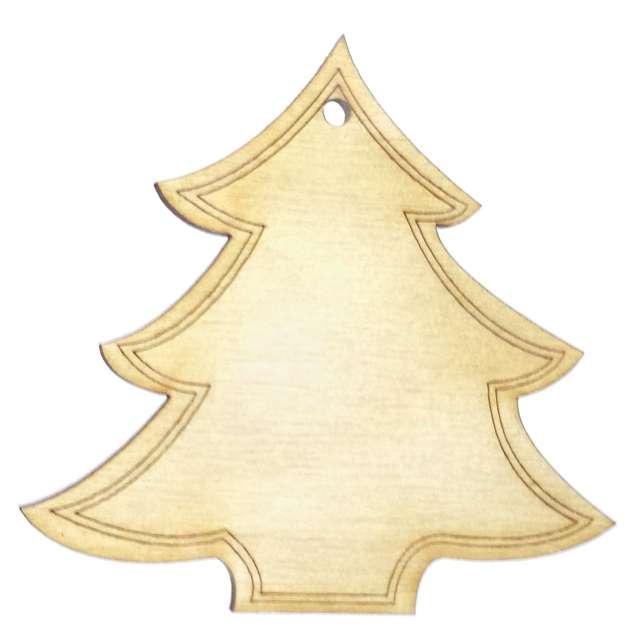 """Zawieszka drewniana """"Świąteczna Choinka Deco"""", 75 x 73 mm, 10 szt"""