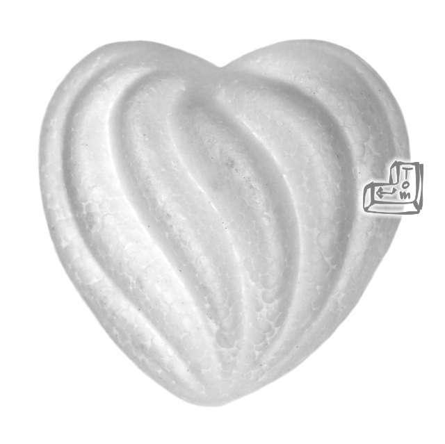 Styropian serce ozdobne 55 mm, 3 szt
