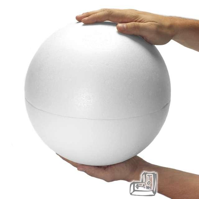 Styropian kula 300 mm dwie połówki