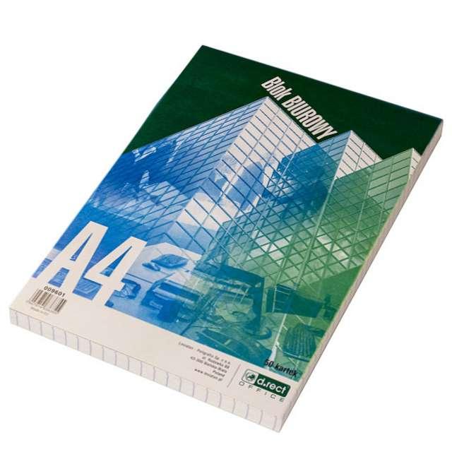 Notatnik Blok biurowy - Kratka A4 D.RECT 50 ark.