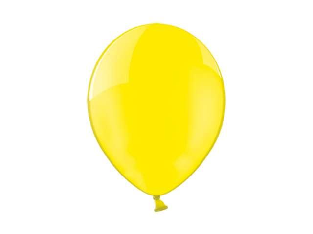 """Balony 10"""" Crystal BELBAL Yellow 100 szt"""