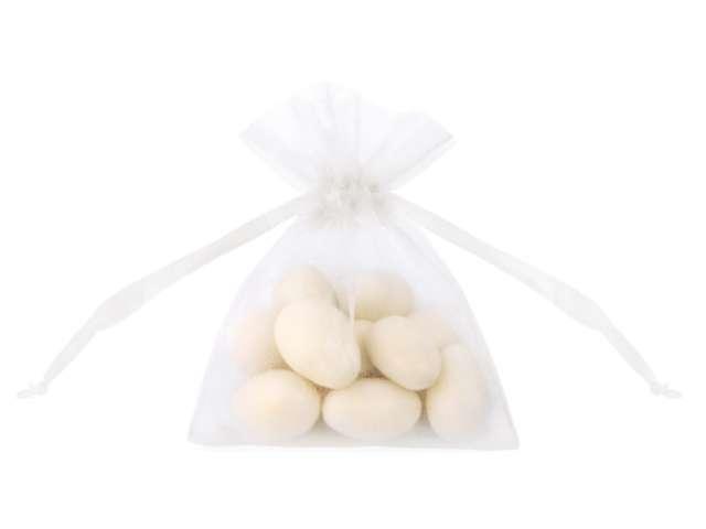 Woreczki z organzy, białe, 10 cm