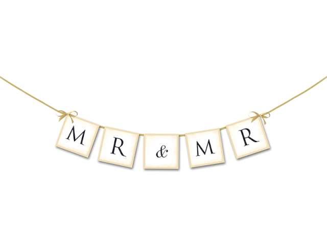 """Baner """"MR & MR"""", 64 cm"""