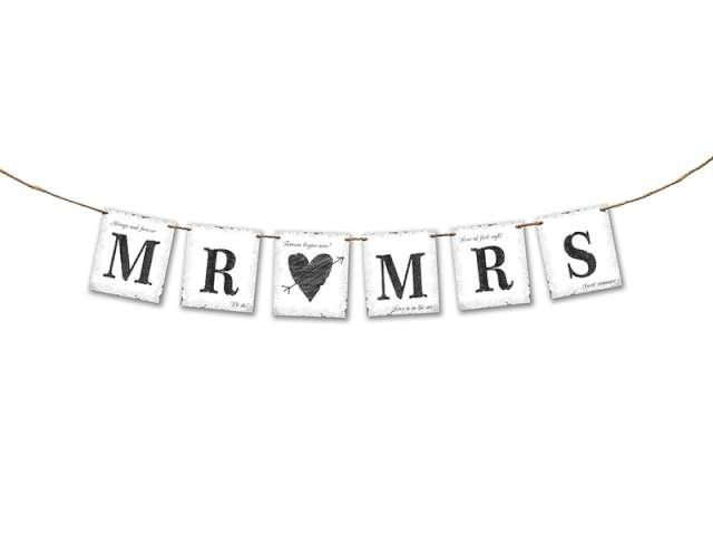 """Baner """"MR MRS"""", 77 cm"""