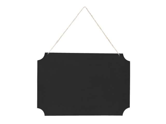 Tabliczka wisząca do napisów, czarny, 1 kpl