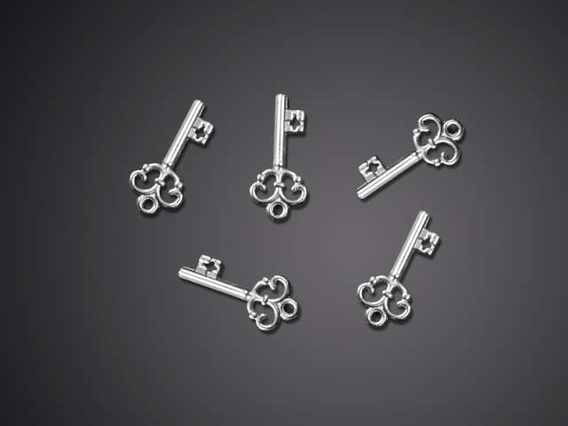 Aplikacje Kluczyk srebrny 23 mm 1 op
