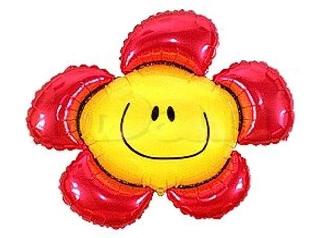 """Balon foliowy 14"""" Kwiatek czerwony"""