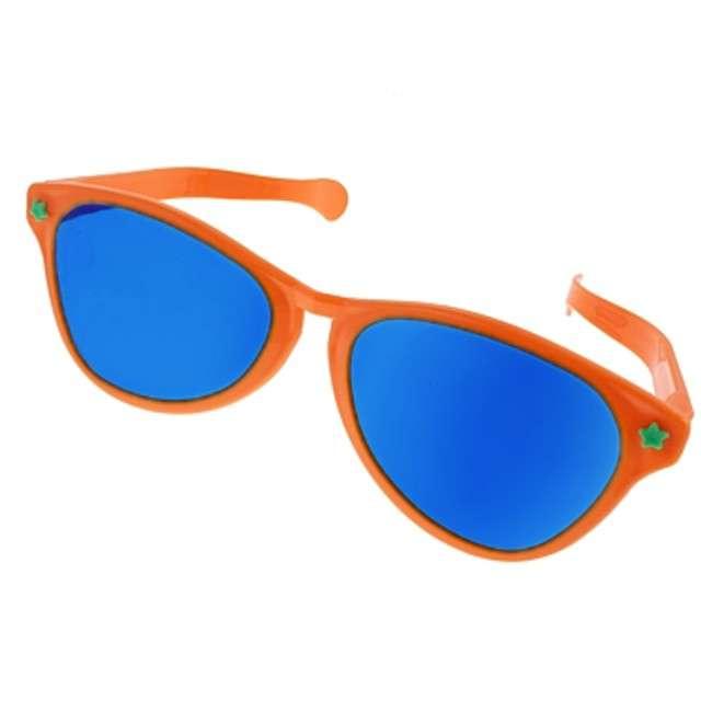 "Okulary party ""Jumbo"", pomarańczowe, Godan"