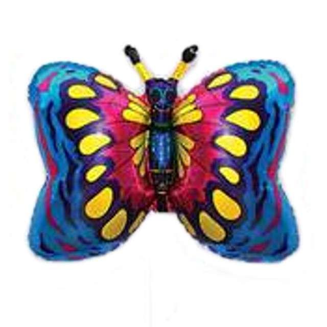 """Balon foliowy """"Motyl"""", niebieski, FLEXMETAL, 14"""""""