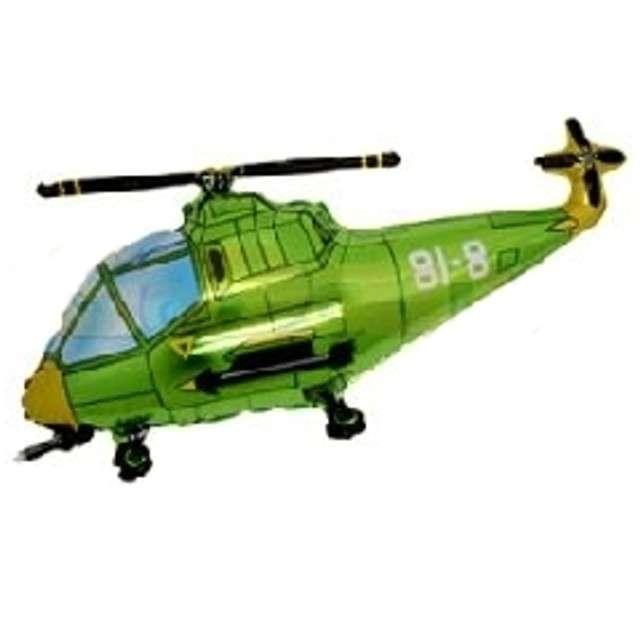 """Balon foliowy """"Helikopter"""", zielony, FLEXMETAL, 17"""" SHP"""