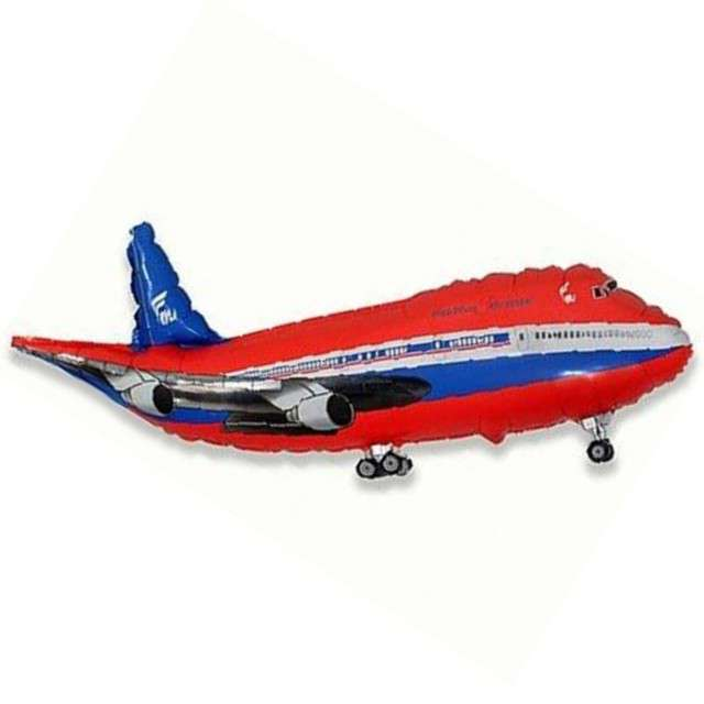 """Balon foliowy 14"""" Samolot, czerwony"""